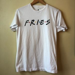 Body Rags Fries Friends Parody Foodie T-Shirt
